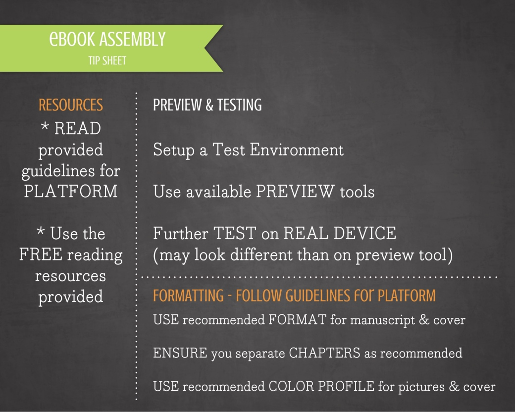 ebook Assembly TIP SHEET UPDATED