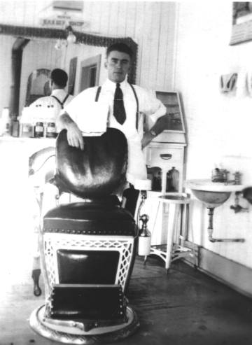Behind Barber Chair
