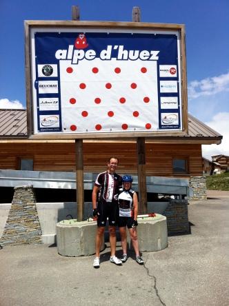France - Alpe d'Huez us at top