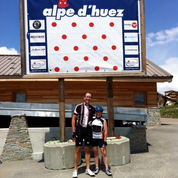 France - Alpe d'Huez us at top