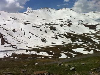 France - snowy mountain top