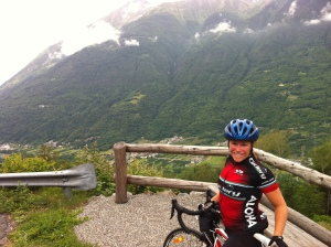 Italy - Mortirolo - me with mountain background